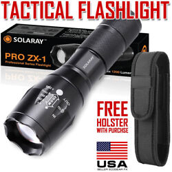 Tactical Flashlight LED 18650 AAA Work Emergency Car Security Light with Holster