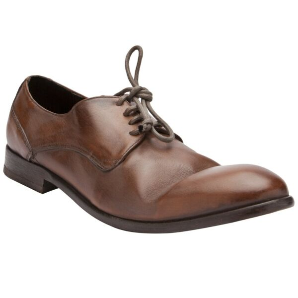 Royaume-UniH by Hudson Marron Habillé Chaussures Travail Dylan Cuir Oxford Derby Mocassin 8
