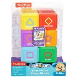 Fisher-Price Laugh and Learn First Words Shape Blocks 9-36 Months 6 Pieces NEW