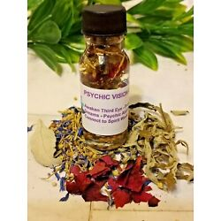 ????Psychic Vision Oil Divination Oil Open Third Eye Oil Conjure Hoodoo Pagan
