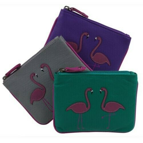 Royaume-UniFemmes Cuir Porte-Monnaie Flamant Rose Par Mala - Freya Collection Rfid