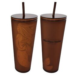 Kyпить Exclusive Starbucks Pike Place Amber Siren Tumbler 24 oz Seattle First Store  на еВаy.соm