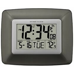 Kyпить WS-8008U La Crosse Technology Atomic Digital Wall Clock with Indoor Temperature на еВаy.соm