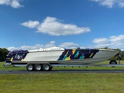 1992 CIGARETTE 38 TOP GUN TWIN 900 HAWKS SUPERCHARGED LOW HOURS LIKE NEW WOW !!!