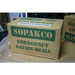 Kyпить Case Of  14 SOPAKCO MRE Emergency Ready to Eat 09/20 Inspect Date REDUCED SODIUM на еВаy.соm