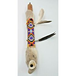 Kyпить Authentic Native American Smokable Peace Pipe Handcrafted in USA 13 Inches Blue на еВаy.соm