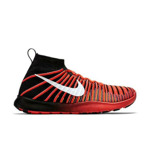 Royaume-UniHommes Nike  Tr Force Flyknit Crimson Course Baskets 833275 001