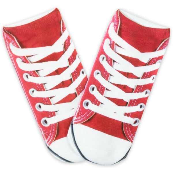 AllemagnePealu - 1 Paire Chucks Rouge Baskets Taille Uniqie 33-40 Polyester Doux Pour