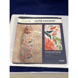 Itzy Ritzy Cutie Cocoon And Hat Swaddle Set For Infants 0-3 Months