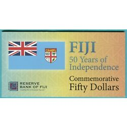 Kyпить Fiji 50 Dollars, 50 Cents 2020 UNC**New - Polymer / Commemorative w/ folder на еВаy.соm