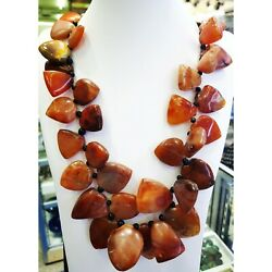 Kyпить Antique African old carnelian agate stone beads  stone  beads necklace 26 nches на еВаy.соm