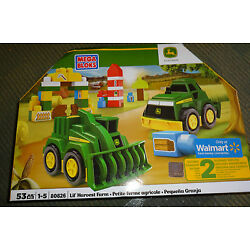Kyпить NEW Mega Bloks John Deere Lil' Harvest Farm 53 Piece Set 80826 2 Tractors Blocks на еВаy.соm