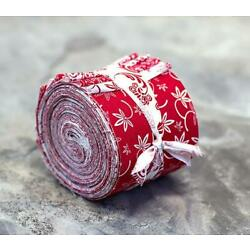 Kyпить Red and White Jelly Roll 100% cotton fabric quilting 16 strips quilt strips на еВаy.соm