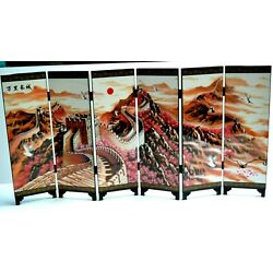 Kyпить Great Wall of China Folding Panels Miniature 2 Sided Lacquered Screen in Box на еВаy.соm