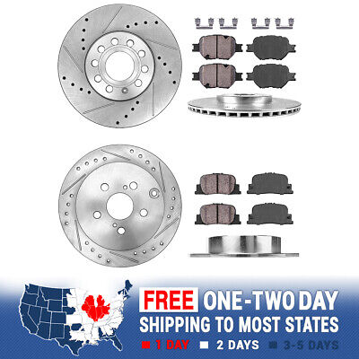 Front+Rear Brake Rotors + Ceramic Pads For 2005 2006 2007 2008 - 2010 Scion TC