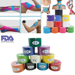 Two Roll Elastic Kinesiology Sports Tape Muscle Pain Care Therapeutic Waterproof
