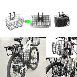 Kyпить Folding Metal Wire Bicycle Basket Bike Storage Carrier Holder Hanging Front Rear на еВаy.соm