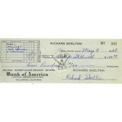 Kyпить Red Skelton Signed Personal Check на еВаy.соm
