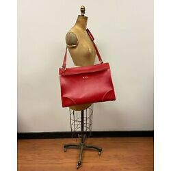Kyпить Rare!  Vintage Hartmann Lugguage Red Leather Shoulder Bag, Travel, Work, FUN! на еВаy.соm