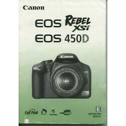 Kyпить Canon Rebel XSi digital camera instruction manual 196 pages 2008 на еВаy.соm