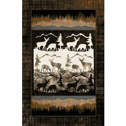 Kyпить Pine & Moose Lodge Rug – Cabin Area Rug with Jute Backing 529 на еВаy.соm