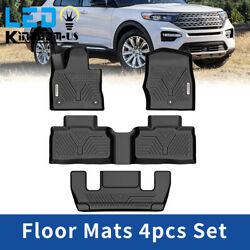 Kyпить Floor Mats Liner for 2020-2021 Ford Explorer All Weather Black Front Rear Set на еВаy.соm