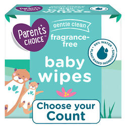 Kyпить Parent's Choice Fragrance Free Baby Wipes 240, 500, 800, 1200 Count Packs, Soft на еВаy.соm