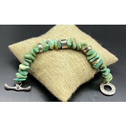 RLM-Sterling Silver 'Abiquiu Collection' Chunky Turquoise Toggle Bracelet