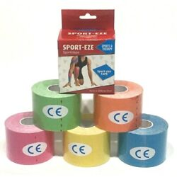 6 Kinesiology Therapy Athletic Muscle Support Elastic Sports Tape 5cm x 5M Rolls