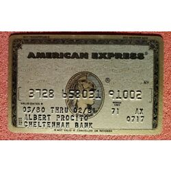 Kyпить American Express Gold Credit Card exp 1980 ♡Free Shipping♡cc411 на еВаy.соm