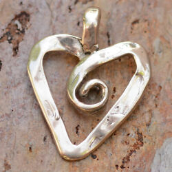 Kyпить Open Heart with Spiral in Sterling Silver Pendant PX-245  на еВаy.соm