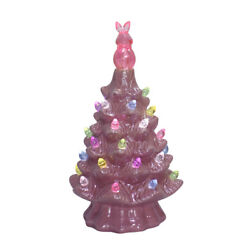 "Kyпить 7.5""H PINK Glazed Ceramic Retro Battery Easter Tree with Multi-Color Bulbs ~NEW~ на еВаy.соm"