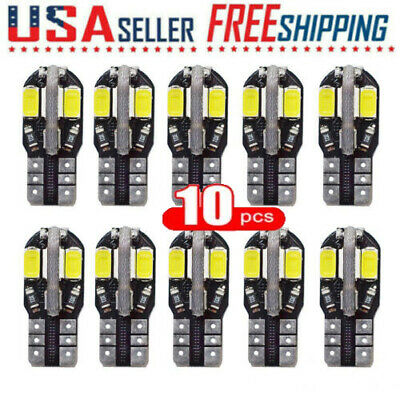 10X Canbus T10 194 168 W5W 5730 8LED SMD Car Side Wedge Light Bulb Lamp White