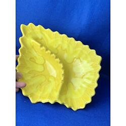 Kyпить Vtg MCM Yellow ASHTRAY LEAF CERAMIC GLAZE POTTERY EMBOSSED, SIGNED & NUMBERED на еВаy.соm