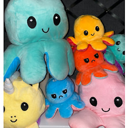 Kyпить ????Reversible Flip Octopus Plush Stuffed Toy Soft Animal Home Accessories Gift???? на еВаy.соm