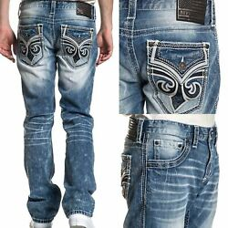 Kyпить AFFLICTION ACE FLEUER PHANTOM Men's Denim Jeans Blue на еВаy.соm
