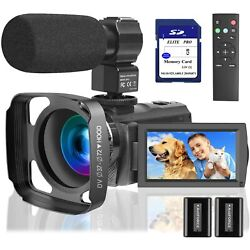 Kyпить Video Camera Camcorder with Microphone 1080P,  64 GB Memory Card Vlogging IR Nig на еВаy.соm