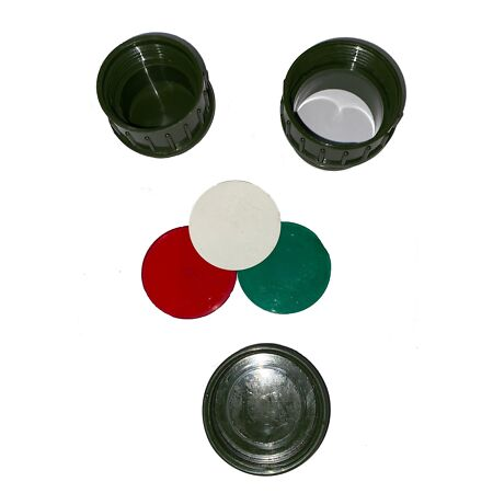 img-British Army Surplus Right Angle D Cell Torch Filter Conversion Kit new or used