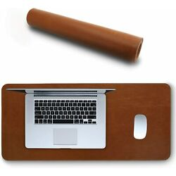 Mouse Pad Wrist Rests Londo Leather Extended Mousepad Light Brown Office Product