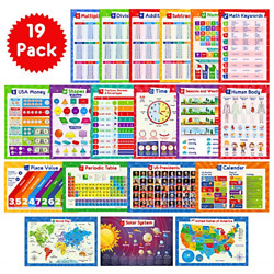 Kyпить 19 Educational Posters for Kids - Multiplication Chart Table, Periodic Table, of на еВаy.соm