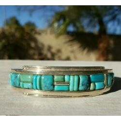 Kyпить Jay King DTR Sterling Silver  Turquoise Inlay Cuff Bracelet  на еВаy.соm