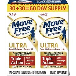 Kyпить Move Free Ultra Triple Action Joint Health Supplement, 60 count Expire 06/2021 на еВаy.соm