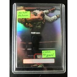 2010 Topps Platinum Sergeant Slaughter Error Card WWE NO NAME OR TP On Front