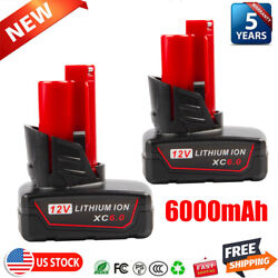 Kyпить 2X For Milwaukee M18 Lithium XC 6.0Ah 18V Extended Capacity Battery 48-11-1860 на еВаy.соm