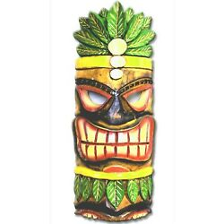 HUGE! 2' TIKE BAR TIKI STATUE Wall Decal Wall Decal,  REMOVEABLE CANVAS
