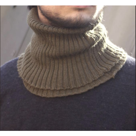 img-Vintage French Army M50 Snood Neck Warmer Scarf Roll Gaitor Military Thermal UK