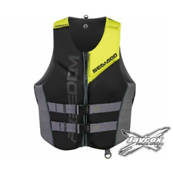 Kyпить NEW Sea-Doo Men's Freedom Life Jacket - Sunburst Yellow- 285942__96 на еВаy.соm