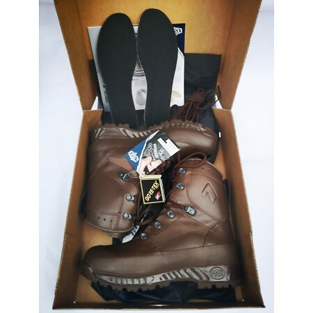 img-BRAND NEW BRITISH ARMY HAIX Gortex Combat High Liability Brown Leather Boots