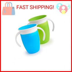 Kyпить Munchkin Miracle 360 Trainer Cup, Green/Blue, 7 Oz, 2 Count на еВаy.соm