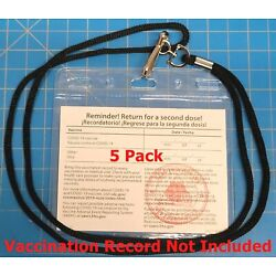 Kyпить 5 Pack Vaccination Record 5 Card Holders 3